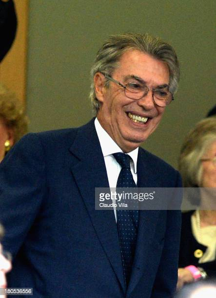 President FC Inter Milan Massimo Moratti during the Serie A match between FC Internazionale Milano and Juventus FC at San Siro Stadium on September...