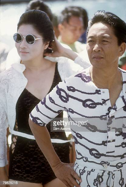 President Ferdinand Marcos of the Philippines with his wife Imelda Marcos in Manila February 1972