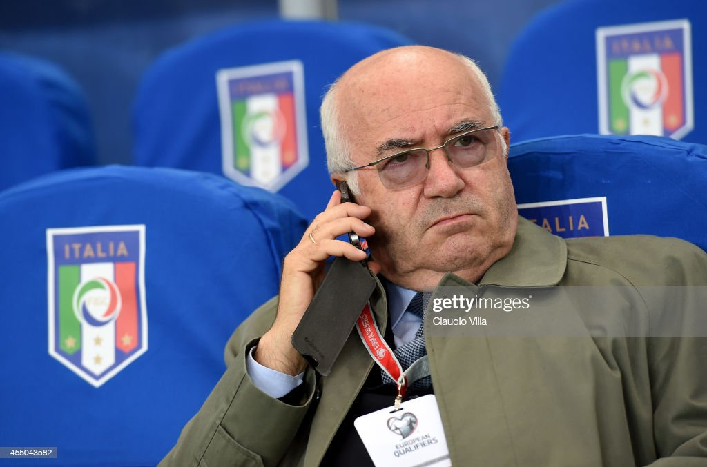 President FIGC Carlo Tavecchio prior to the UEFA EURO 2016 qualifier between Norway and Italy at Ullevaal Stadion on September 9, 2014 in Oslo, Norway.