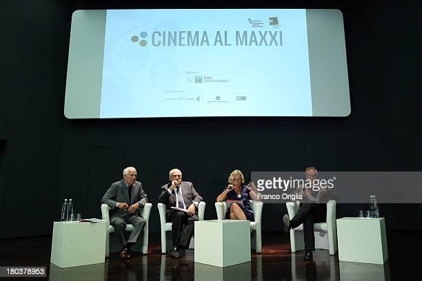 President Fondazione Cinema per Roma Paolo Ferrari president BNL Gruppo BNP Paribas Luigi Abete president Fondazione MAXXI Giovanna Melandri and...