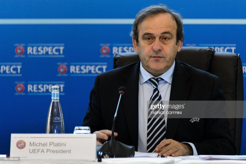 UEFA president France's Michel Platini is pictured during the year's last meeting football's European governing body on December 6, 2012 in Lausanne. UEFA's executive committee has given the green light to holding the European championships in 2020 across the continent. Platini, first mooted the idea of holding the tournament in a number of cities as a way of avoiding high costs at a time of dire financial constraints in many European countries.