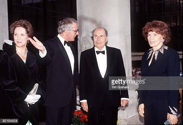 President Francois Mitterand And His Wife Madame Danielle Mitterand In Portsmouth At The Guildhall For Dday Commemorations With Prime Minister John...