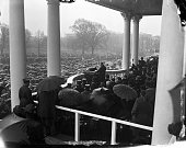 President Franklin D Roosevelt speaks at his second inauguration on January 20 1937