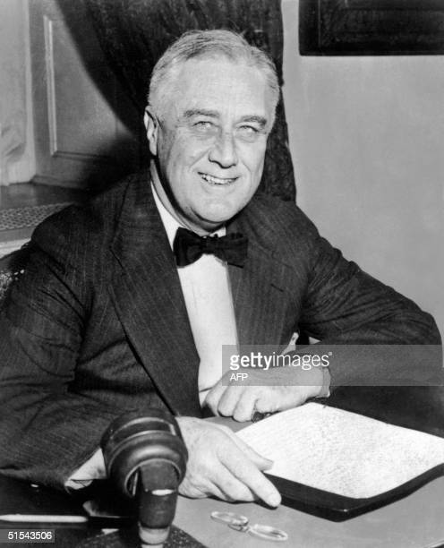 President Franklin Delano Roosvelt c 1930 at the White House