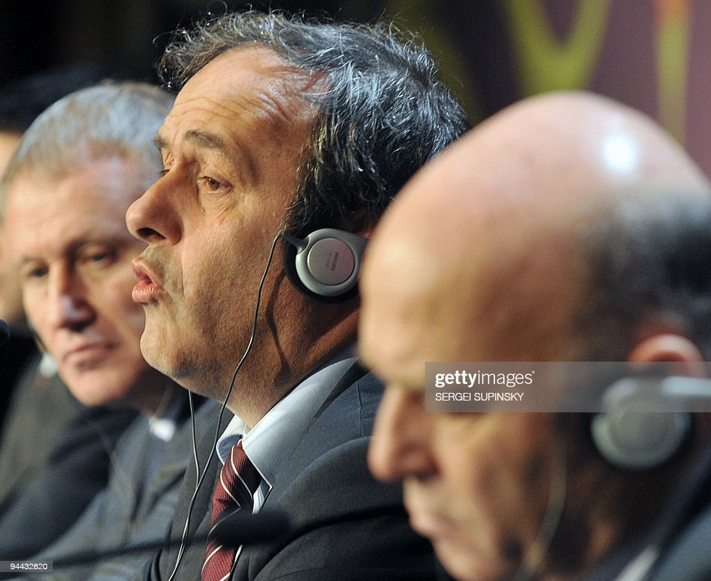 UEFA President French Michel Platini C