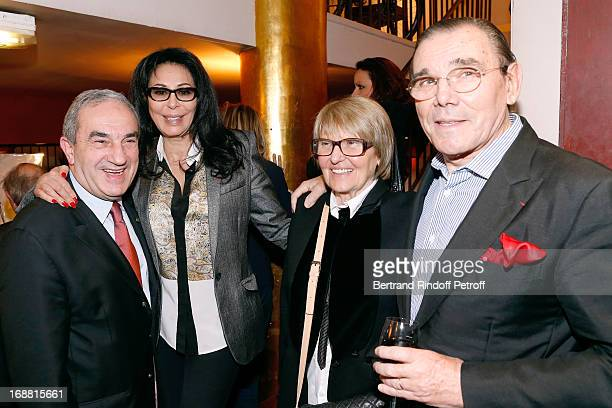 President French Tennis Federation Jean Gachassin with his wife 'Minou' French Minister Yamina Benguigui and Michel Corbiere attend 'Ninon Lenclos ou...