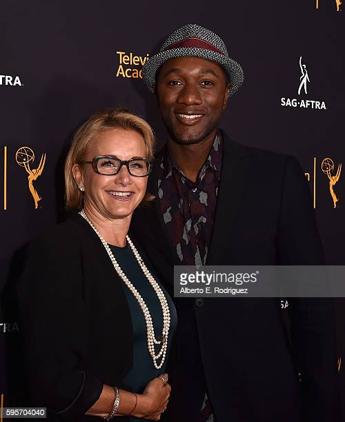 President Gabrielle Carteris and singer Aloe Blacc attend the Television Academy And SAGAFTRA's 4th Annual Dynamic and Diverse Celebration at The...