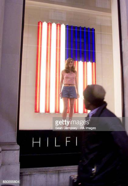 US President George Bush's niece Lauren Bush during the launch of American designer Tommy Hilfiger's Spring/Summer 2001 collection at his flagship...