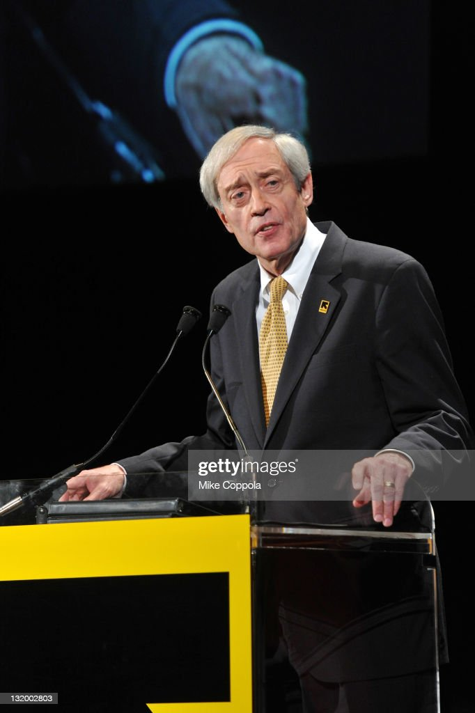 IRC President George Rupp speaks at the International Rescue Committee's Annual Freedom Award benefit at the Waldorf Astoria Hotel on November 9, 2011 in New York City.