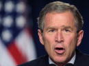 President George W Bush addresses the National Association of Manufacturers at the White House October 31 2001 in Washington DC Bush urged the...