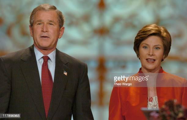 President George W Bush and First Lady Laura Bush