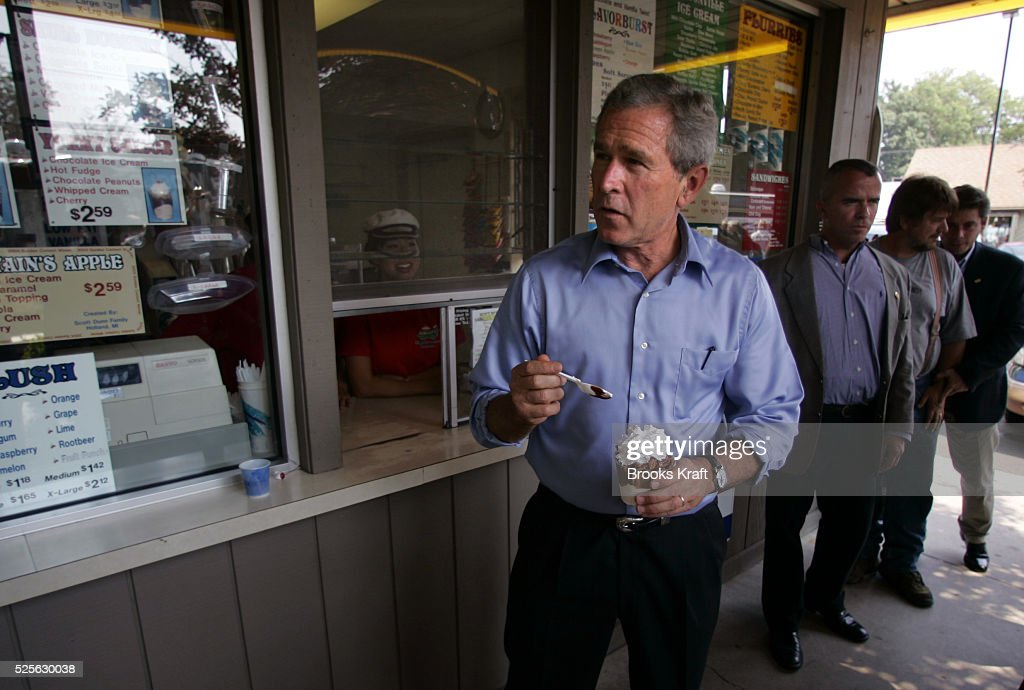 President George W Bush Campaigns In Michigan Pictures Getty Images - Michigan location in usa