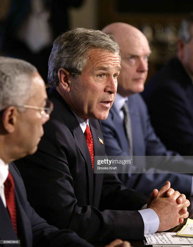 The Press Cabinet President George W Bush Pictures Getty Images