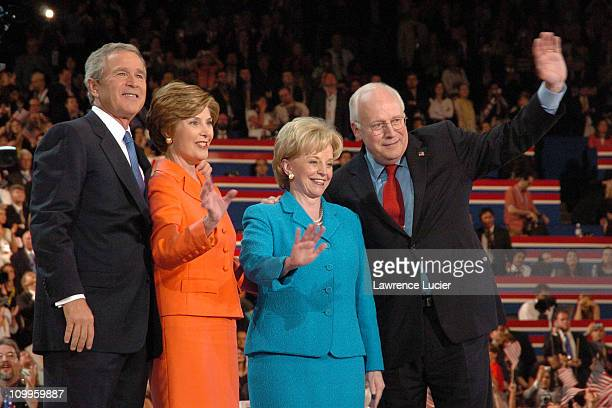 President George W Bush Laura Bush Lynne Cheney and Dick Cheney