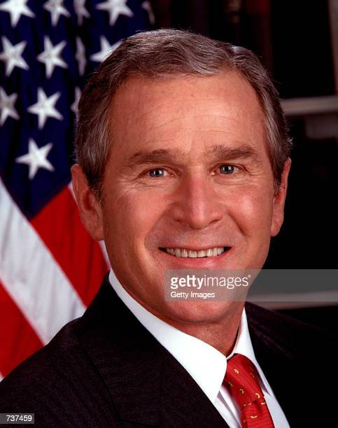 President George W Bush poses for a portrait in this undated photo January 31 2001 at the White House in Washington DC