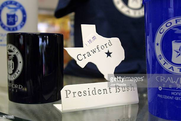 President George W Bush souvenirs fill store shelves April 13 2001 in Crawford Texas Crawford the hometown of US President George W Bush has a...