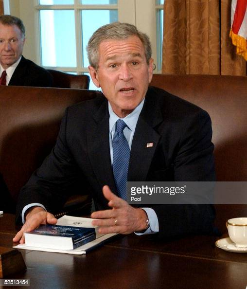 S President George W Bush speaks about the Commission on the Intelligence Capabilities of the United States Reguarding Weapons of Mass Destruction...