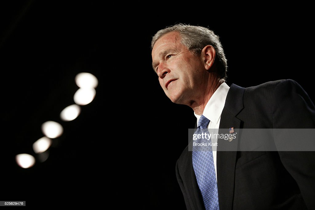 US President George W Bush speaks at the American Legion National Convention in Nashville Tennessee