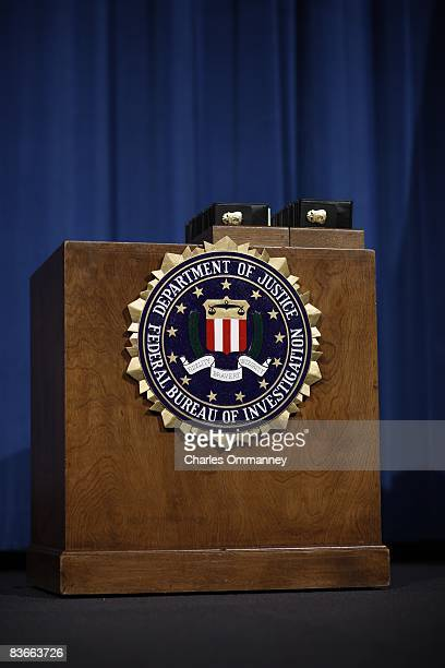 President George W Bush speaks at the graduation ceremony for Federal Bureau of Investigation Special Agents at the FBI Academy on October 30 2008 in...