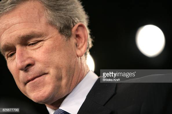 President George W Bush speaks to USAID and NGO personnel in Washington January 10 2005 Bush pledged a longterm US commitment to helping the...