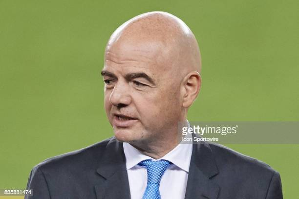 FIFA president Gianni Infantino during the CONCACAF Gold Cup Final match between the United States v Jamaica at Levi's Stadium on July 26 2017 in...