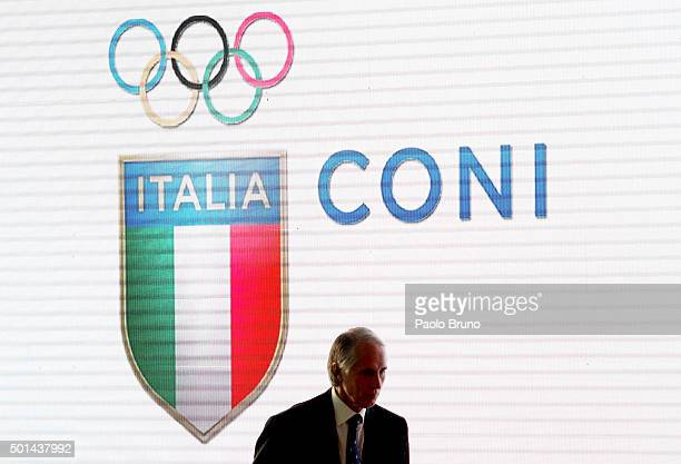 President Giovanni Malago' attends the Italian Olympic Commitee 'Collari d'Oro' Awards ceremony on December 15 2015 in Rome Italy