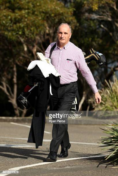 President Greg Dyer arrives during the Australian Cricketers' Association Golf Day at New South Wales Golf Club on June 27 2017 in Sydney Australia
