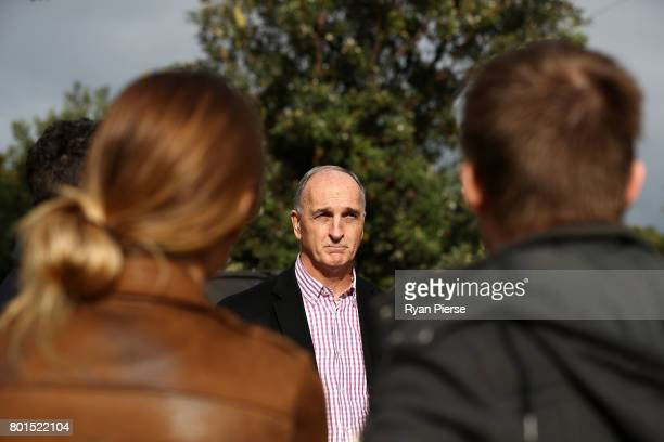 President Greg Dyer speaks to the media during the Australian Cricketers' Association Golf Day at New South Wales Golf Club on June 27 2017 in Sydney...