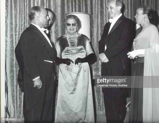 President Habib Bourguiba of Tunisia meets US Secretary of State Dean Rusk 1961