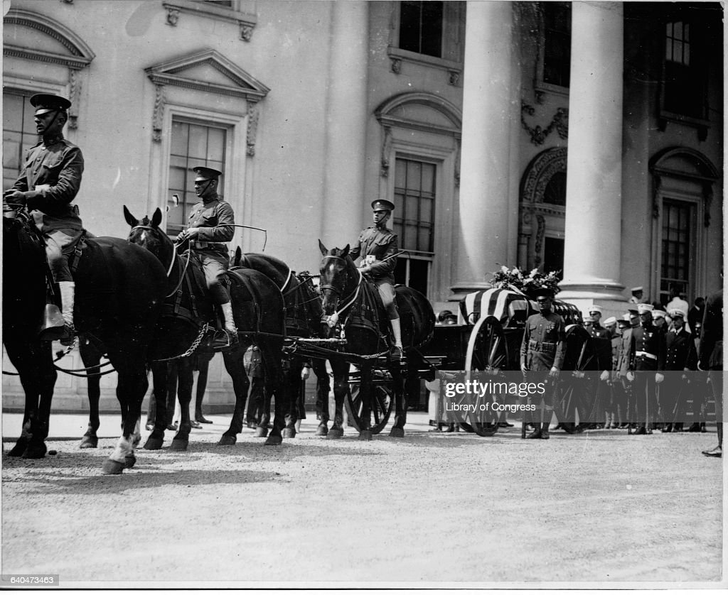 President Harding's Funeral Procession at White House