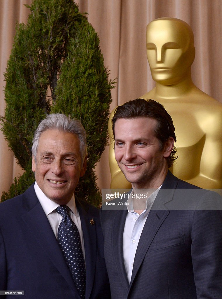 President Hawk Koch (L) and actor Bradley Cooper attend the 85th Academy Awards Nominations Luncheon at The Beverly Hilton Hotel on February 4, 2013 in Beverly Hills, California.