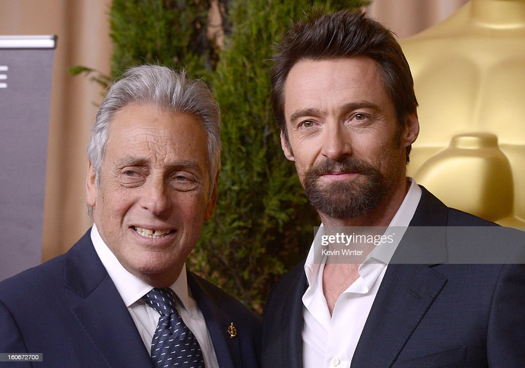 President Hawk Koch (L) and actor Hugh Jackman attend the 85th Academy Awards Nominations Luncheon at The Beverly Hilton Hotel on February 4, 2013 in Beverly Hills, California.