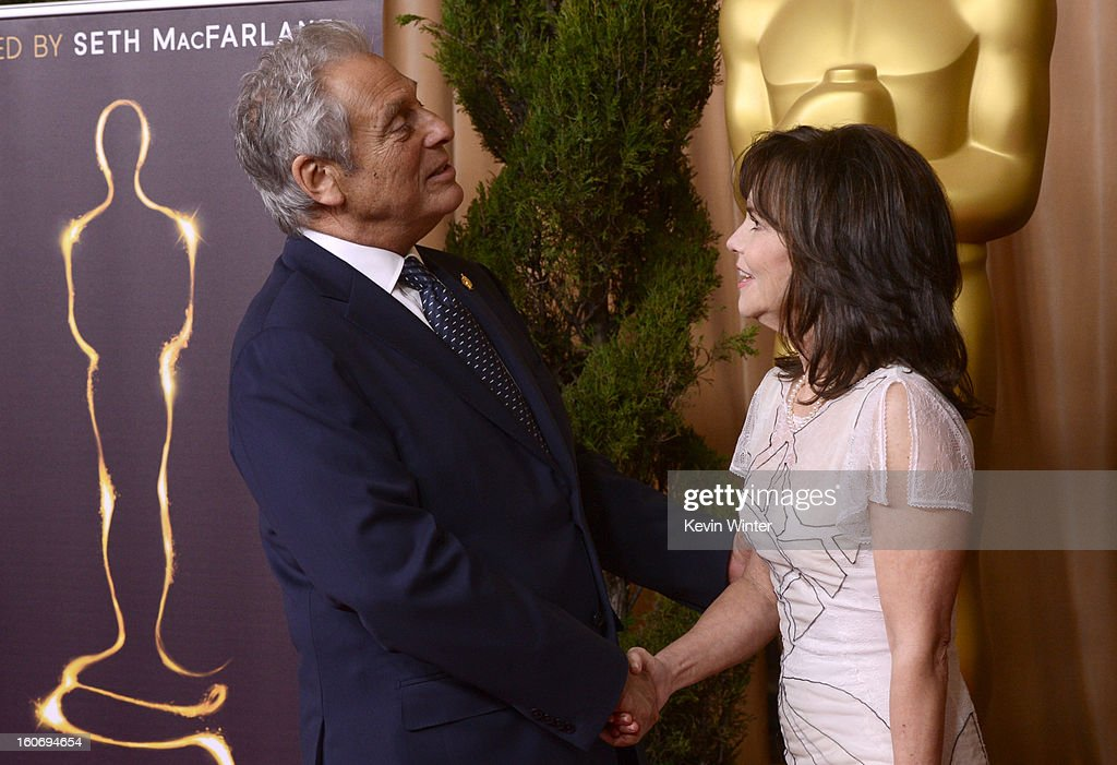 President Hawk Koch (L) and actress Sally Field attend the 85th Academy Awards Nominations Luncheon at The Beverly Hilton Hotel on February 4, 2013 in Beverly Hills, California.