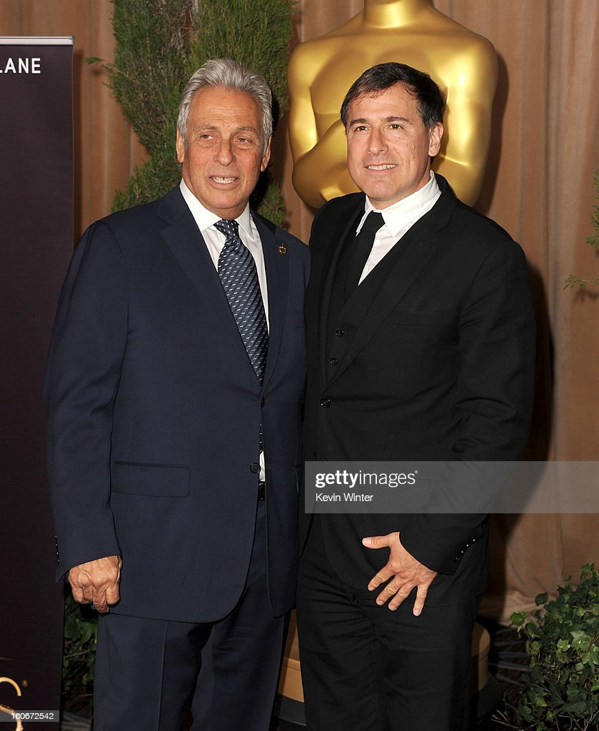 President Hawk Koch (L) and David O. Russell attend the 85th Academy Awards Nominations Luncheon at The Beverly Hilton Hotel on February 4, 2013 in Beverly Hills, California.