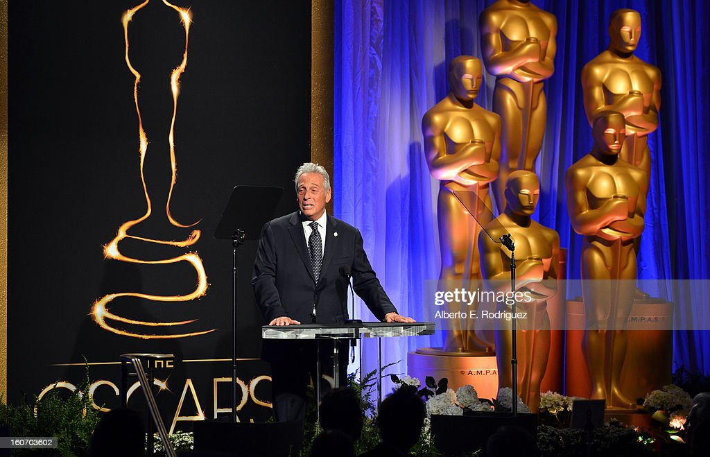 President Hawk Koch speaks at the 85th Academy Awards Nominations Luncheon at The Beverly Hilton Hotel on February 4, 2013 in Beverly Hills, California.