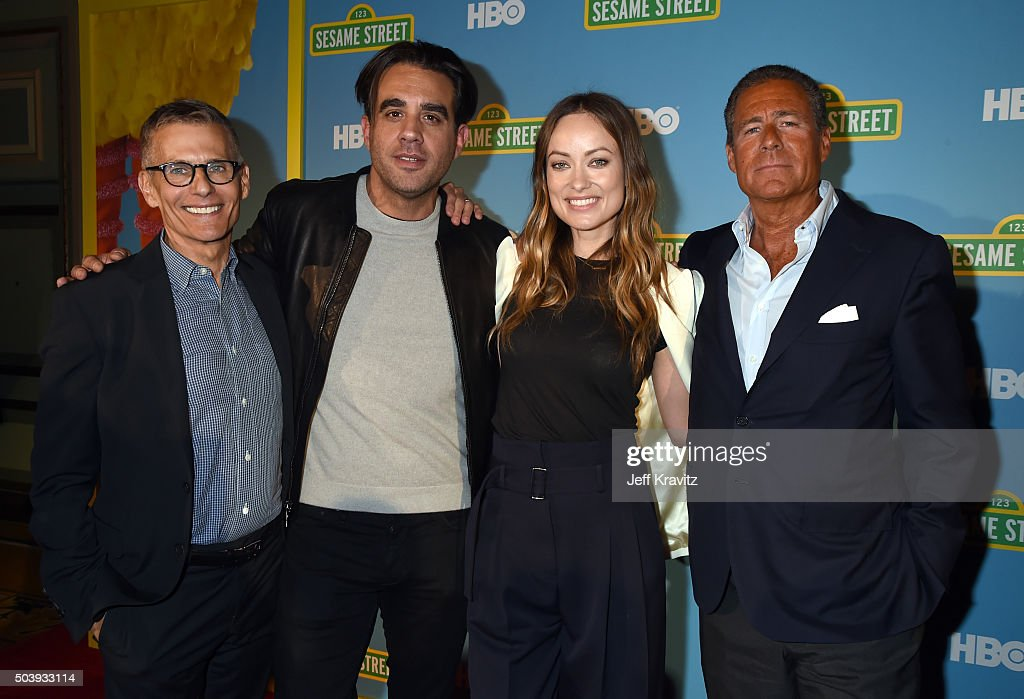 President HBO Programming Michael Lombardo actors Bobby Cannavale Olivia Wilde and Chairman CEO HBO Richard L Plepler attend the HBO Winter 2016 TCA...