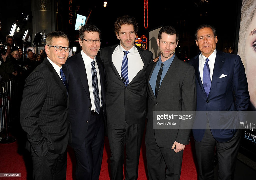 President HBO Programming Mike Lombardo, President & COO of HBO Eric Kessler, Creator/Executive Producer David Benioff, Creator/ Executive Producer D.B Weiss, and CEO, HBO Richard Plepler arrive at the premiere of HBO's 'Game Of Thrones' Season 3 at TCL Chinese Theatre on March 18, 2013 in Hollywood, California.