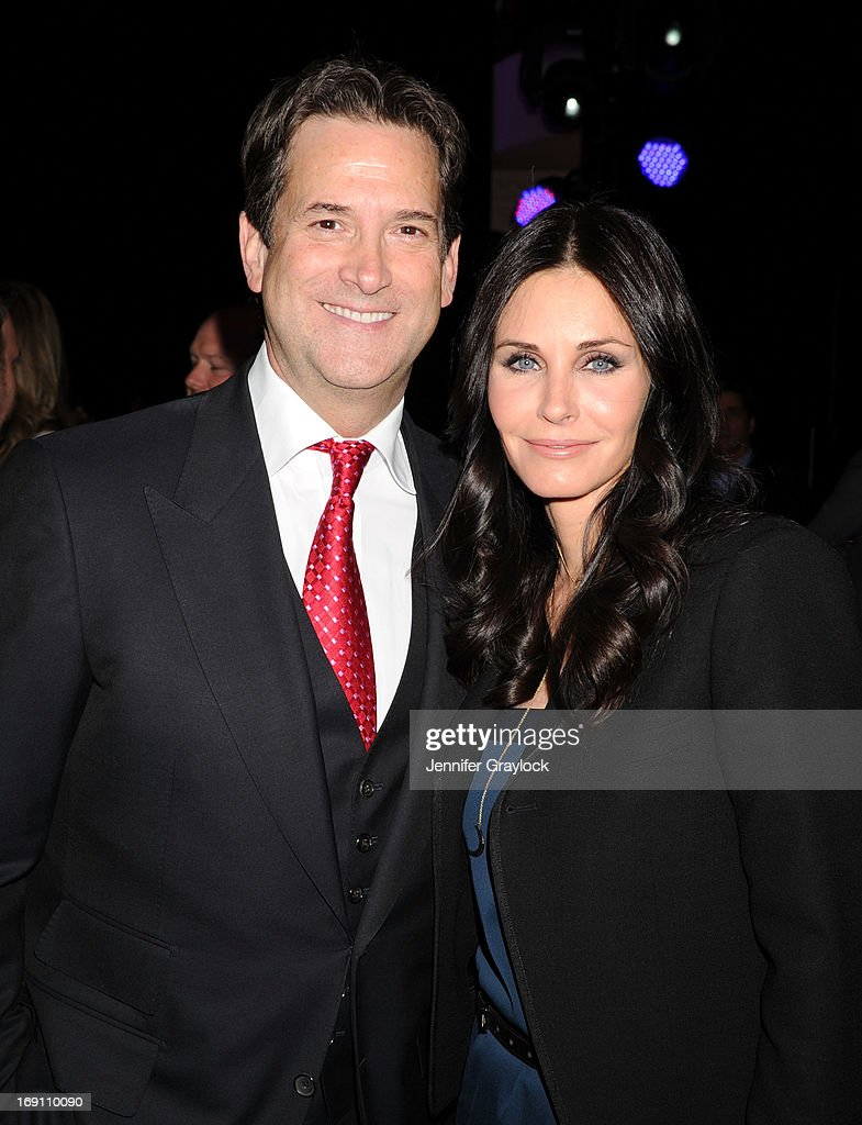 President, Head of Programming for TNT, TBS and Turner Classic Movies Michael Wright and Courtney Cox attend the 2013 TNT/TBS Upfront presentation at Hammerstein Ballroom on May 15, 2013 in New York City.