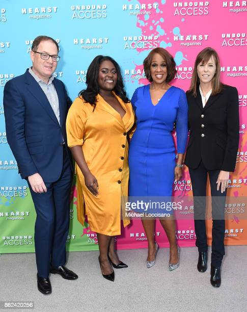 President Hearst Magazine David Carey Danielle Brooks Gayle King and Lucy Kaylin attend Hearst Magazines' Unbound Access MagFront at Hearst Tower on...