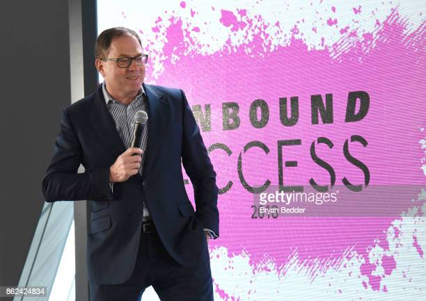 President Hearst Magazine David Carey speaks onstage at Hearst Magazines' Unbound Access MagFront at Hearst Tower on October 17 2017 in New York City