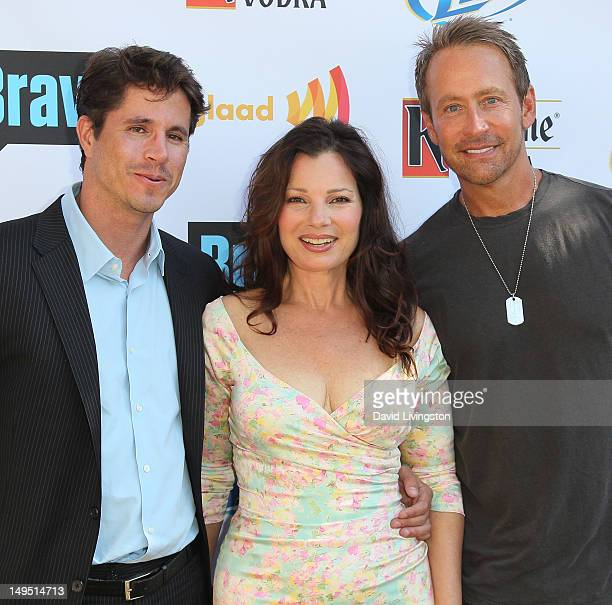 GLAAD president Herndon Graddick actress Fran Drescher and writer Peter Marc Jacobson attend GLAAD's 'Bravo Top Chef Invasion' benefit event at a...