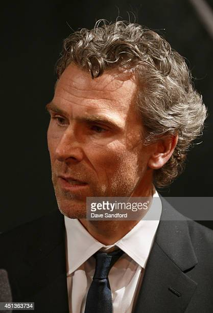 President Hockey Operations Trevor Linden of the Vancouver Canucks attends the 2014 NHL Entry Draft at Wells Fargo Center on June 27 2014 in...