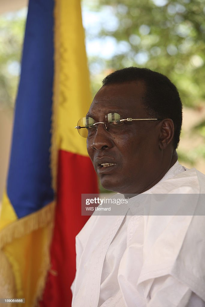 President Idriss Deby on December 20, 2012 in Biltine, Chad.