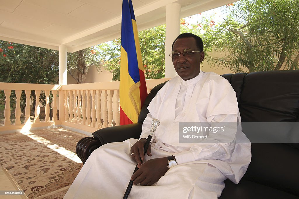 President Idriss Deby poses on December 20, 2012 in Biltine, Chad.