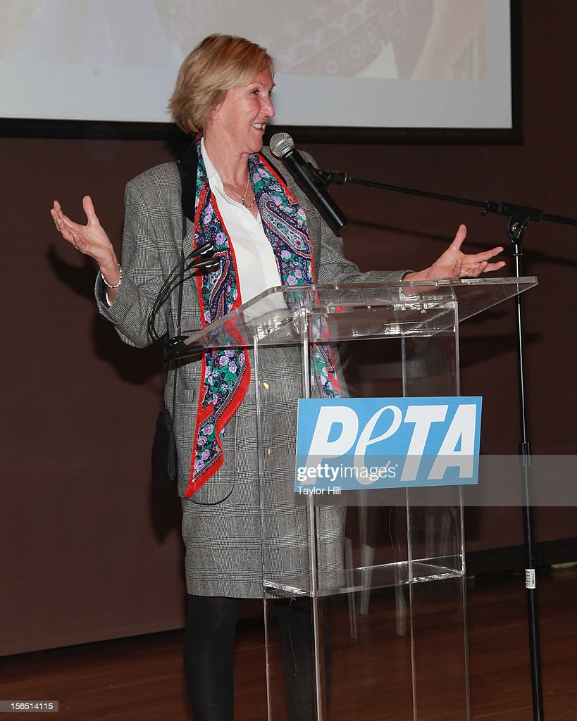 President Ingrid Newkirk speaks at a PETA Fundraiser at The Standard Hotel on November 15, 2012 in New York City.