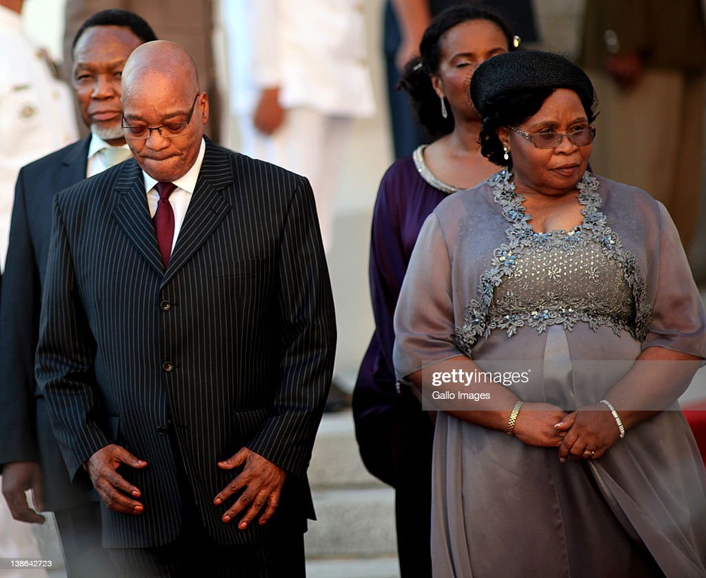 President Jacob Zuma and his wife Khuma Khumalo at the State of the Nation Address at the opening of Parliament in Cape Town, South Africa on 9 February 2012. Parliament was opened in the annual ceremony where President Jacob Zuma delivered his state of the nation address.