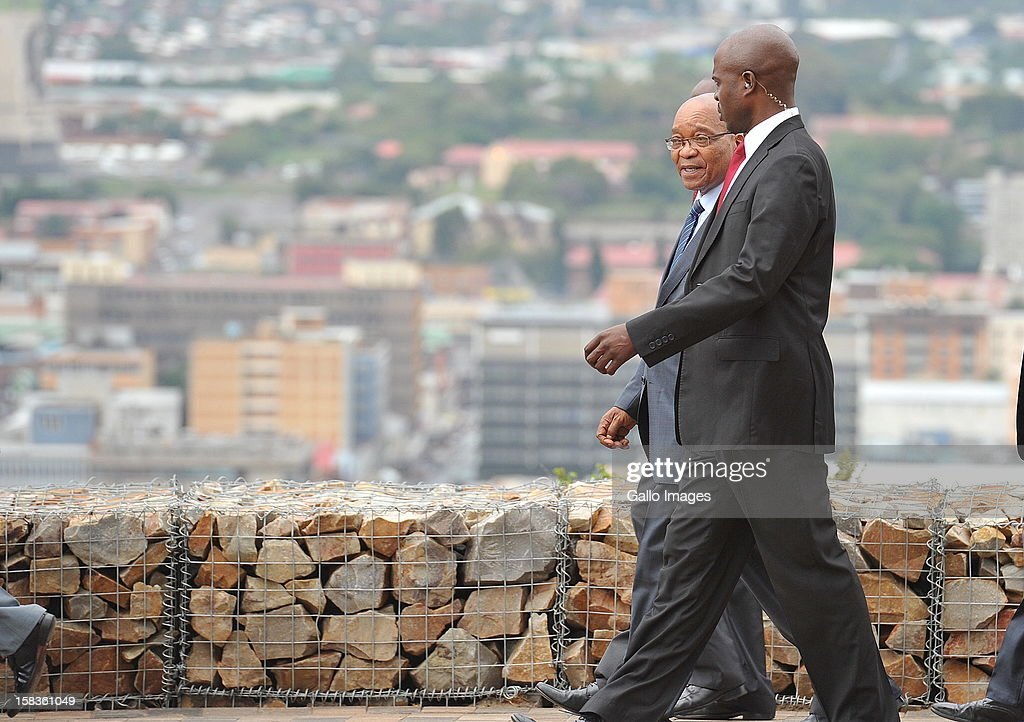 President Jacob Zuma at Naval Hill on December 13, 2012, in Bloemfontein, South Africa.