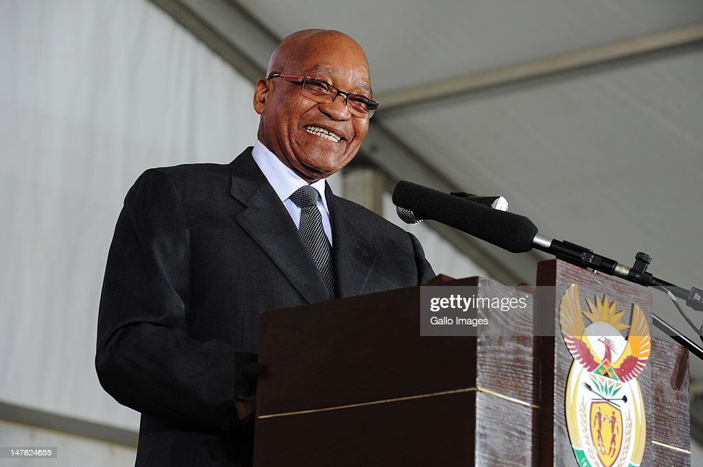 President Jacob Zuma at the start of the national social cohesion summit on July 4, 2012 in Soweto, South Africa. The event aims to bring together civil society, religious groups, Government and business, under the theme 'Working together to create a caring and proud society.'