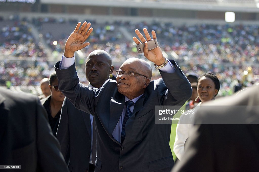 President <a gi-track='captionPersonalityLinkClicked' href=/galleries/search?phrase=Jacob+Zuma&family=editorial&specificpeople=564982 ng-click='$event.stopPropagation()'>Jacob Zuma</a> attends the Women's Day celebrations on August 9, 2011 in Polokwane, South Africa. Zuma stated that 'great strides have been made to improve status of women' during the 55th anniversary of the women's march to the Union Buildings in Tshwane.