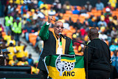 President Jacob Zuma delivers his speech during the Gauteng ANC manifesto launch at FNB Stadium on June 04 2016 in Johannesburg South Africa Speaking...